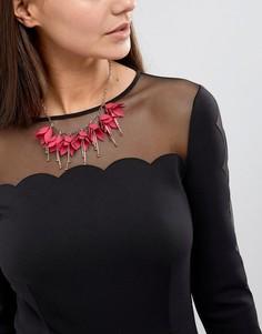 Ожерелье с цветочной подвеской Ted Baker Fawna - Розовый
