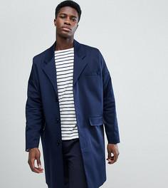 Темно-синее легкое пальто из хлопка Noak - Темно-синий