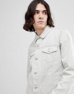 Джинсовая куртка цвета экрю ASOS - Бежевый