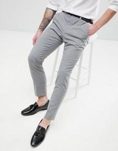 Серые зауженные брюки River Island - Серый