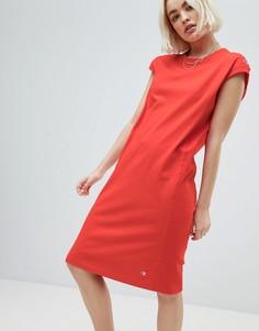Платье миди с небольшим логотипом Champion - Красный
