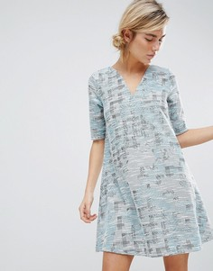 Гобеленовое платье See U Soon - Синий