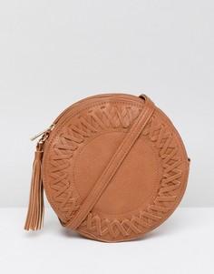 Круглая сумка через плечо Liquorish - Рыжий