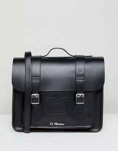 Кожаный портфель 15 дюймов Dr Martens - Черный