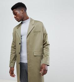 Пальто из хлопка цвета хаки Noak - Зеленый