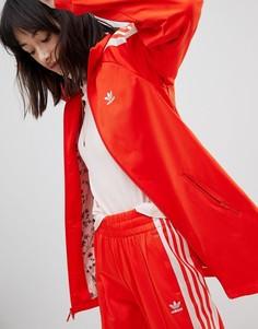 Красно-розовая спортивная куртка adidas Originals - Красный