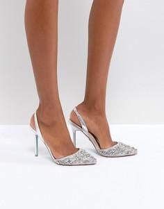 Серебристые туфли на каблуке Blue By Betsy Johnson Sonia - Серебряный