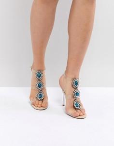 Прозрачные босоножки на каблуке Blue By Betsy Johnson Sylvi - Розовый