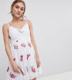 Короткое приталенное платье для выпускного с вышивкой Little Mistress Petite - Мульти