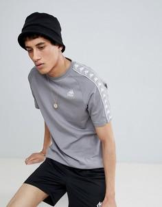 Серая футболка с отделкой лентой Kappa - Серый