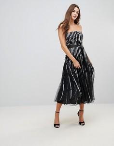 Платье-бандо миди QED London - Черный