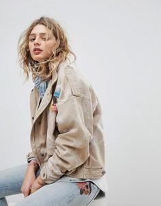Оверсайз-куртка с карманами Maison Scotch - Бежевый