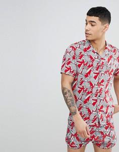 Рубашка с короткими рукавами и принтом Religion - Красный