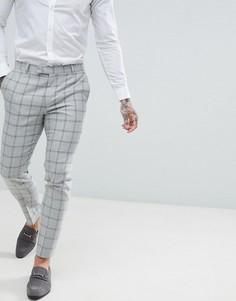 Серые брюки скинни в клетку River Island - Серый