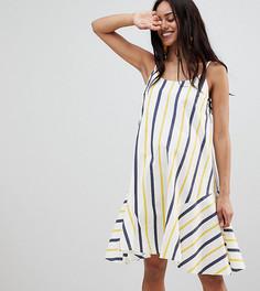 Летнее платье-трапеция в полоску ASOS DESIGN Maternity - Мульти