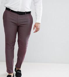 Фактурные облегающие брюки ASOS PLUS Wedding - Фиолетовый