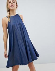 Платье-трапеция с добавлением лиоцелла Tencel от Bellfield Reeka - Синий