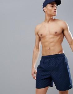 Черные шорты для плавания с логотипом Nike - Темно-синий