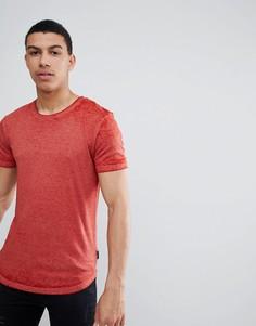 Длинная футболка D-Struct - Красный