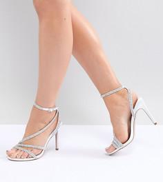 Босоножки на каблуке с декоративной отделкой ASOS DESIGN - Кремовый
