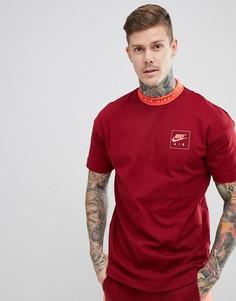 Красная футболка с высоким воротом Nike Air 886068-677 - Красный