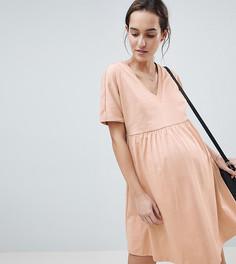 Свободное хлопковое платье ASOS DESIGN Maternity - Мульти