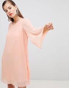 Плиссированное платье Y.A.S - Розовый