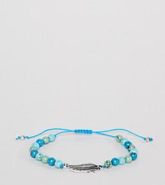 Браслет с синими бусинами Reclaimed Vintage Inspired эксклюзивно для ASOS - Синий