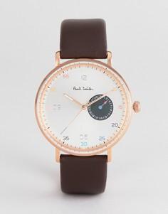 Часы с коричневым кожаным ремешком Paul Smith PS0060005 Gauge - 41 мм - Коричневый