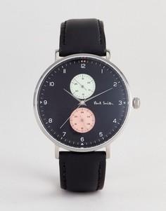Часы с черным кожаным ремешком Paul Smith PS0070004 - 42 мм - Черный