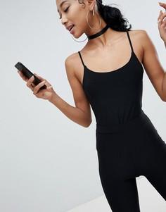 Боди на бретельках Fashionkilla - Черный