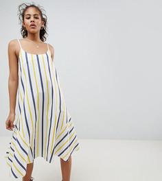 Летнее платье-трапеция миди в полоску ASOS DESIGN Tall - Мульти