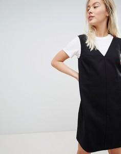 Свободное платье мини в стиле casual от ASOS DESIGN - Черный