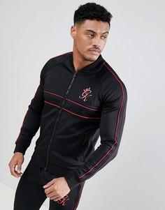 Черная обтягивающая спортивная куртка Gym King - Черный