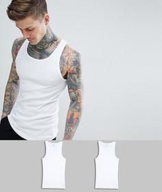 2 классических хлопковых майки стандартного кроя Calvin Klein - Белый