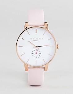 Часы с розовым кожаным ремешком Ted Baker TE50310003 Olivia - 40 мм - Розовый