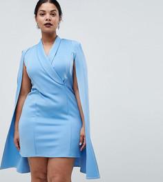 Платье-блейзер миди Club L Plus - Синий