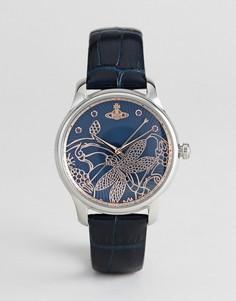 Часы с темно-синим кожаным ремешком Vivienne Westwood VV197NVNV Fitzrovia - Темно-синий