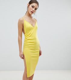 Платье миди с запахом ASOS DESIGN Petite - Зеленый