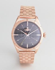Розово-золотистые часы-браслет Vivienne Westwood VV192BKRS Conduit - Золотой