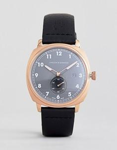 Часы с кожаным ремешком Larsson & Jennings Meridian 38 мм - Черный