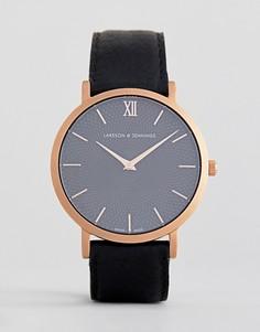 Часы с кожаным ремешком Larsson & Jennings Sloane 40 мм - Черный
