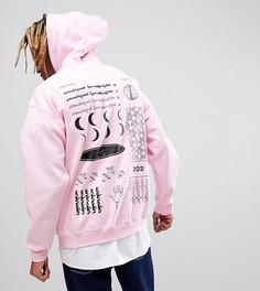 Розовый худи с принтом Crooked Tongues - Розовый