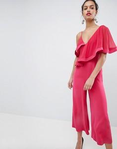 Комбинезон с широкими штанинами и оборками Keepsake - Розовый