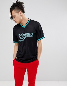 Черная сетчатая футболка New Era Florida Marlins - Черный