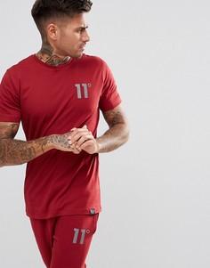 Красная обтягивающая футболка 11 Degrees - Красный