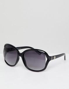 Большие круглые солнцезащитные очки черного цвета Esprit - Черный