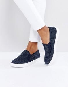 Кроссовки с отделкой камнями Carvela - Темно-синий