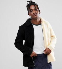 Куртка из искусственного меха (кремовый/черный) Reclaimed Vintage Inspired - Черный