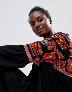 Платье с вышивкой Raga Aviles - Черный